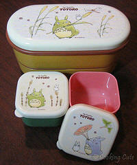 Totoro 2-tier bento box and mini bento boxes