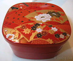 large square 2-tier bento box