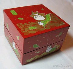 square 2-tier Totoro bento box