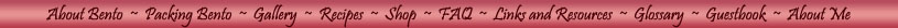 menu bar with links